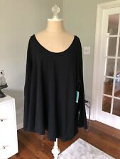 SUSINA New with tags 4X Black Scoop Neck Pima Cotton Tee Shirt