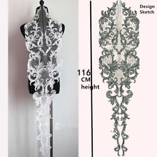 Ivory Wedding Lace Motif Large Bridal Evening Dress Costume Embroidery Applique