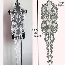 Adorno De Encaje Marfil Coser en grandes accesorios de boda bordado de encaje y apliques 1 PC