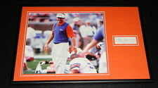 Steve Spurrier Signed Framed 12x18 Photo Display Florida Gators South Carolina