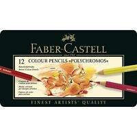 Faber Castell  Polychromos Artists Quality Colour Pencils 12 Set
