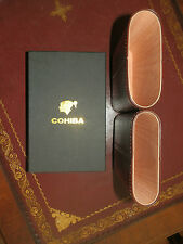 CEDAR LINED LEATHER ADJUSTABLE COHIBA 4 CIGAR CASE