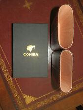 CEDAR LINED LEATHER ADJUSTABLE COHIBA 4 CIGAR CASE