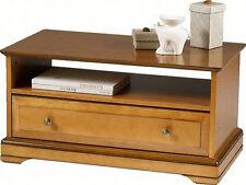 Table basse merisier 1 tiroir 1 niche Florac