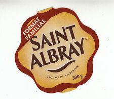 Etiquette de Fromage   Saint Albray Format Familial    No 149