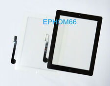 LCD Touch Screen Glass Replacement for Ipad 3 / Ipad 4 With Button With Adhesive