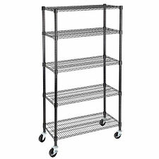 """Adjustable 5 Tier 60""""x30""""x14""""  Layer Wire Shelving Rack Heavy Duty Steel Shelf"""