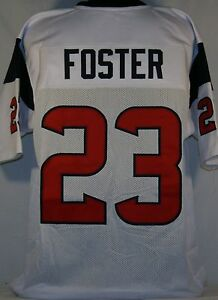 Arian Foster Unsigned Custom White Football Jersey Men's Size 2XL