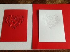10 x A6 die cut card with Butterfly Heart design. FREE UK POSTAGE