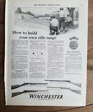 1917 Winchester Model 06 90 22 03 rifle shooting range gun ad