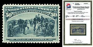 Scott 240 1893 50c Columbian Issue Mint OG Graded VF 80 with PSE CERTIFICATE!