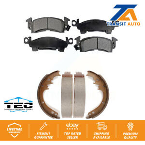 Front Rear Ceramic Brake Pad Drum Shoe For Chevrolet Caprice Cadillac Buick Jeep
