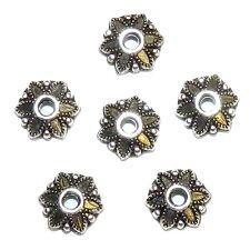ML7275p Antiqued Silver 7mm Scalloped Flower Design Metal Bead Caps 80/pkg