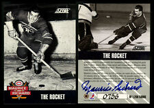 "1992 SCORE~""THE ROCKET""~MAURICE RICHARD AUTOGRAPHED GEM MINT 10 PERFECT/1250"