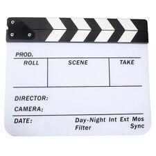 Acrylic Clapboard Dry Erase Movie Clapper Board Slate 29.8 x 24.5cm HY