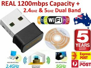 1200 Mbps FAST Wireless WiFi Network Receiver Adapter 5GHz Dual Band Dongle