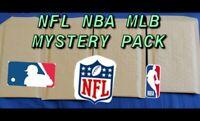 NFL NBA MLB MYSTERY PACK - 10 HITS GUARANTEED - 20 Cards Total