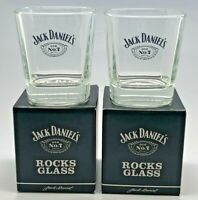 PAIR OF JACK DANIELS ROCKS GLASSES - BNIB - GIFT SET PUB BAR WHISKEY 2 TWO
