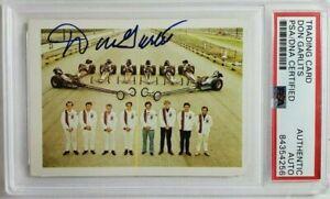 1971 Fleer AHRA Top 8 Don Garlits Signed Rookie Card Autograph RC Auto PSA NHRA