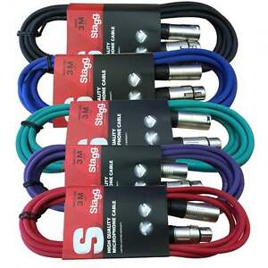 Stagg/Stagecore  3M XLR Male to Female Microphone Lead & Audio Signal Cable
