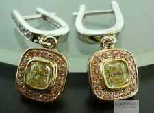 1.19cts Natural Light Yellow IF Diamond Halo Earrings R5647 Diamonds by Lauren
