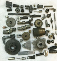 Rare JUNK DRAWER LOT ART STEAMPUNK PARTS  Lamp Gears Industrial Gears