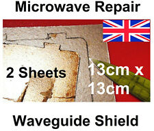 2x Microwave cover sheet mica asbestos EXTRA  heat waveguide 5