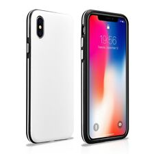 iPhone X/XS Coque arrière ultra mince Colorful Blanc