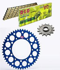 DID 520VX2 chain & 14t/52t Renthal blue sprocket kit Yamaha WR450F 2003-2016