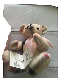 Burberry Teddy Bear Collectable New With Box..Rare..slight Wear On Box