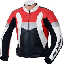 Blousons toutes saisons rouges en cuir pour motocyclette