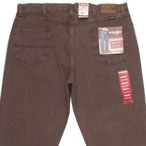 BNWT NEW WRANGLER REGULAR FIT Men's Brown Straight Classic Jeans Denim W40 L32