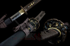 Handmade Folded Steel Katana Japanese Samurai Sword Full Tang Battle Ready Sharp