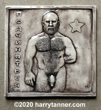 """Yuri""  Male Nude Sculpture / Art Tile by Harry Tanner homoerotic"