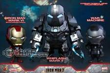 HOT TOYS Iron Man 2 Mark VI, War Machine & Whiplash Mark II Collectible Set of 3