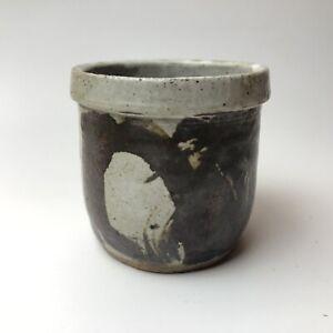 Vintage Studio Pottery Vase 1966 Signed Ceramic Bowl Cup Stoneware