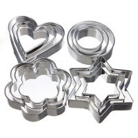 12pcs/set Stainless Steel Clay Cutter Mold Flower Round Shape Pottery Cake DIY