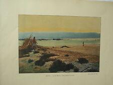 TERRE SAINTE sites et monuments  PHOTOGRAVURE la mer Morte