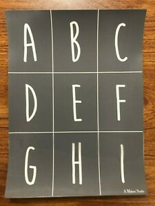 Alphabet and Numbers 1 Mesh Adhesive Silkscreen Stencil 9 x 12 inch Reusable