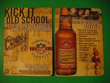 2003 Beer Coaster >< COORS Brewing ~ Thanksgiving NFL Classics ~ Football Trivia