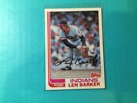 LEN BARKER 1982 TOPPS CARD #360 INDIANS