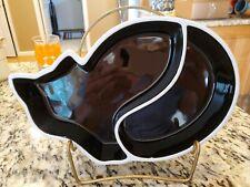 New listing Sagaform Animal Divided Cat Serving Dish Tray by Ylva Olsson Sweden Black White