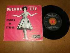 BRENDA LEE - COMING ON STRONG - YOU KEEP COMING BACK TO  - 45 PS / LISTEN - GIRL