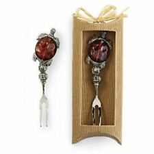 Amber Turtle Cocktail Fork Boxed 107304