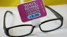 New $19.99 Foster Grant Designer Women Reading Eyeglasses-+2.00-Victoria Black