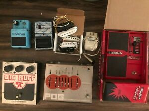 Guitar Pedal Lot - Boss CE-2 Chorus, Digitech Wammy, POG, Big Muff