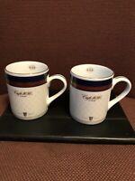 Lot Of 2 European Coffeehouse Mug Cup Engwall CAFE 1686 Paris Vintage 1996 1997