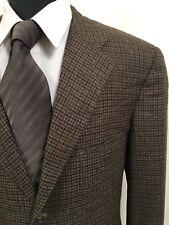 Ermenegildo Zegna Brown Tweed Houndstooth Sport Coat Blazer Jacket 44 L Mens 44L