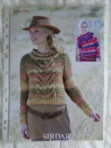 Sirdar Indie Knitting Pattern 9591 Sweaters x2