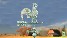 Rooster Weathervane - Yellow Belly Chicken Wind vane-Antique Color-Free Mount